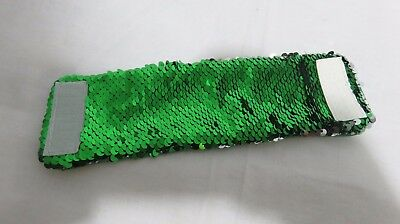 Mermaid Bracelet w/ Reversible Sequins Wrist Band Pillow Co Imagine Magic