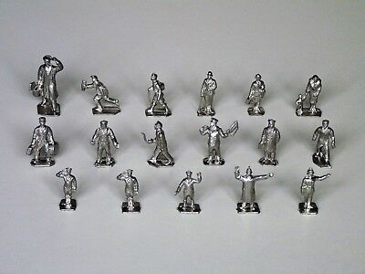 Meccano Dinky Toys diecast Figures.   17 Original unpainted from Binns Road.
