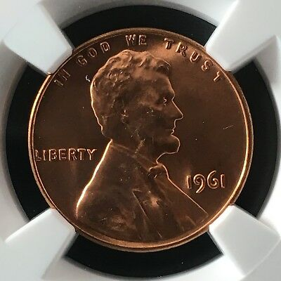 1961 1C RD Lincoln Memorial One Cent NGC MS67+RD                   4474323-006c
