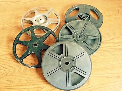 Lot of 5 Dual 8mm & Super 8 Movie Film Take up Reel - 400 Ft. - Auto Loading