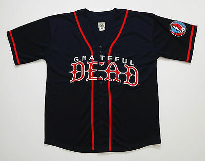 Grateful Dead Shirt Baseball Jersey Steal Your Face MLB NCAA Sports Button Up XL