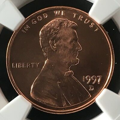 1997-D 1C RD Lincoln Memorial One Cent NGC MS69RD                  4474345-005c