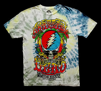 Grateful Dead Shirt T Shirt 1980 Warfield Theater 15th SYF Tie Dye GDP 2011 L