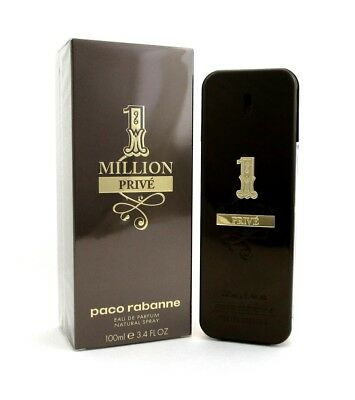 1 Million Prive By Paco Rabanne Eau De Parfum Spray 3.4 Oz. For Men. NIB Sealed.