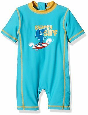 Aquatinto Baby Boys Swimming Costume Sharky Surf, UV +50 - Multicoloured - 12-18