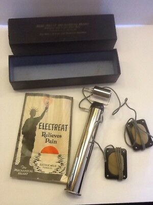 ELECTROTHERAPY ELEC-TREAT MECHANICAL HEART.  1920s MASSAGE PAIN RELIEF DEVICE