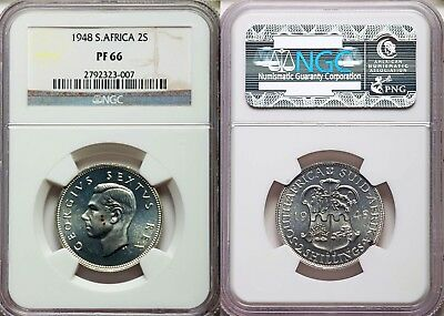 1948 South Africa 2 Shillings Gem+ Proof Ngc Pf66- Priced To Sell