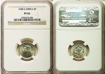1948 South Africa Six Pence Gem+ Proof Ngc Pf66- Priced To Sell