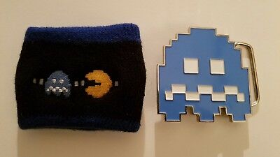 Pac Man belt buckle and wristband