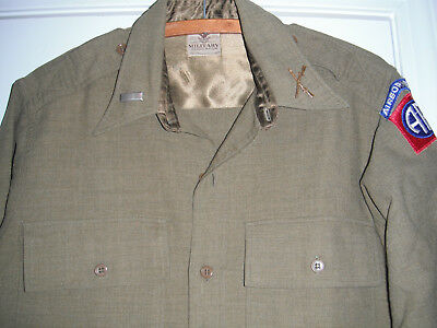 WW2 NAMED/ID'd 82nd AIRBORNE 325th GLIDER INF Officer SHIRT,GAUNT WINGS, Etc Lot