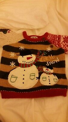 Christmas jumper 9-12 months next boy/girl