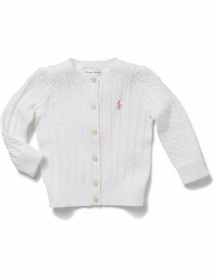 BNWT Polo Ralph Lauren Cable Cardigan Size 24 Months