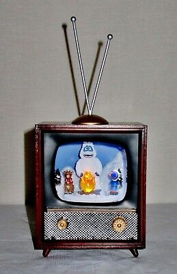Nib Amusements Musical Retro Tv Rotating Rudolph, Hermey & Bumble Plays Rudolph