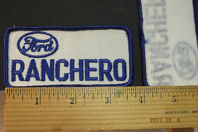 """Vintage Ford Ranchero Embroidered Sew-on Patch 4""""x2"""""""""""