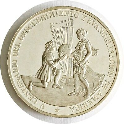 1987 Dominican Republic 500th Anniversary Columbus 5 Ounce .999 Silver Proof