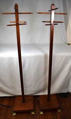 PAIR OF COAT TREE STANDS: Lot 244