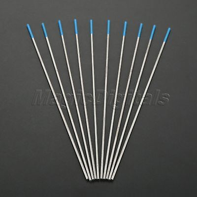 10X For TIG Welding Tungsten Electrode 2% Lanthanated Blue 1/16inch (1.6mm) Dia