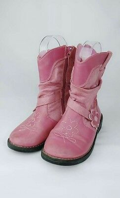 Nina Kids Boot Flowers Pink Size 11 Girls Zipper
