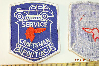 Pontiac Service Craftsman Embroidered Iron-on Patch 3.5x2.75""