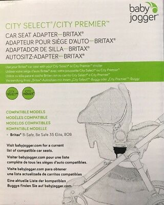 Baby Jogger City Select / Premier Car Seat Adapter - Britax B-Safe NEW 1967210