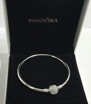 Pandora sterl. silver Disney Moments Beauty & the Beast Bangle S925 Ale 590748CZ