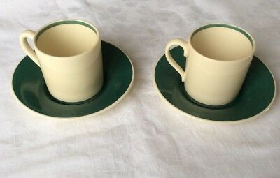2 x Vintage Susie Cooper Coffee Cans and Saucers