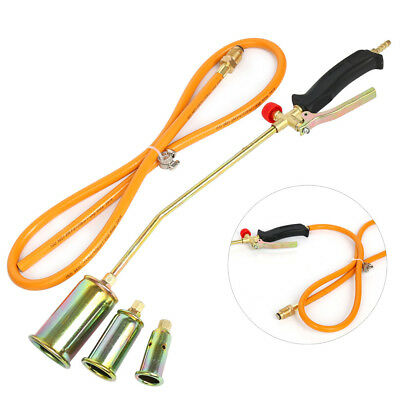 """Gas Torch Burner 60"""" Hose Weed Kit Propane with 25/35/50mm Nozzle Portable AU"""