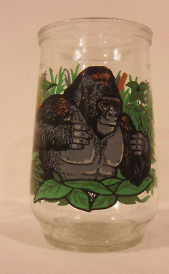 Welch's Endangered Species Collection Jelly Jar Glass #8 Mountain Gorilla