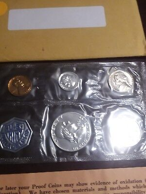 1961 Proof Set 90% Silver US Mint 5 Coins W/ Envelope