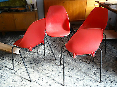 ALADIN Design - set of 4 chairs vintage chairs 1950