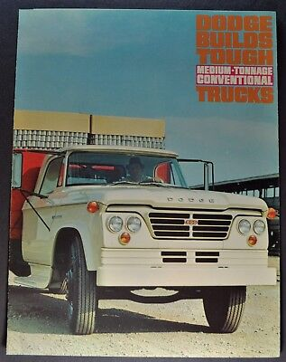 1964 Dodge Medium Conventional Truck Brochure D400 D500 D600 D700 Excellent Orig