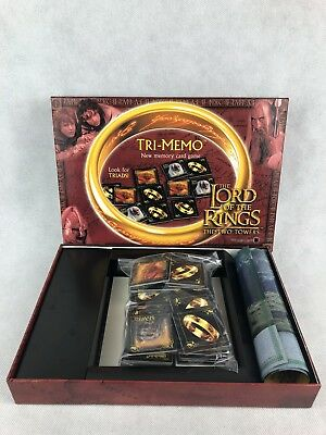 TRI MEMO Memory Card Game -The LORD OF THE RINGS The TWO TOWERS VGC