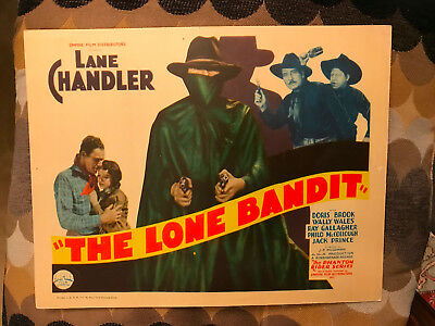 The Lone Bandit 1935 Empire western title lobby card Lane Chandler Wally Wales
