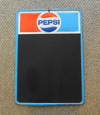 PEPSI Early 70s (Not 80s) Metal Chalkboard Menu Sign