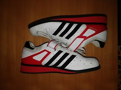 Adidas power perfect II Weightlifting Shoes / UK size 11 / White Red Black