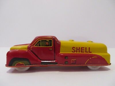 Vintage Fischer Shell Oil Tanker Tin - Made in Western Germany - Very Rare