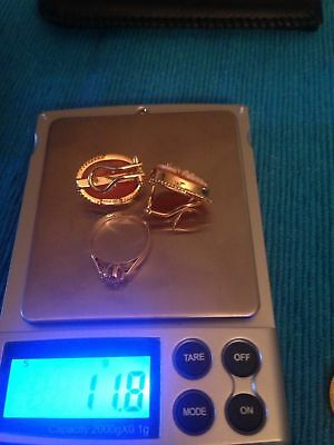 18k yellow gold stamped, ring and earrings (11.8 grams) wearable,resale or scrap