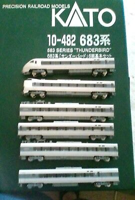 N KATO THUNDERBIRD 6 CAR SET 10-482 683 SERIES low running time excellent condit