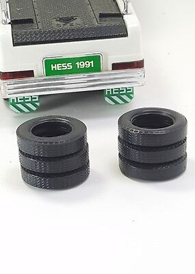 HESS Gasoline Toy Truck Tires Original Tires 1991 6 Count Lot OEM Used