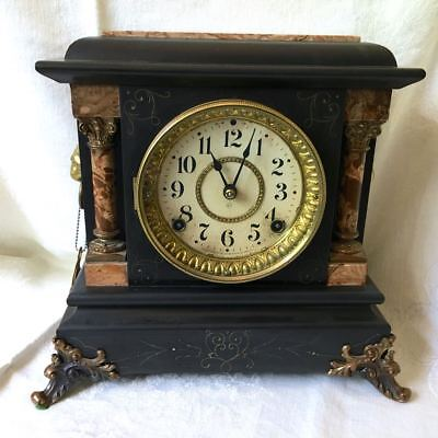 Antique Seth Thomas Adamantine 8 Day Clock