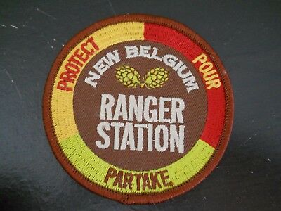 """RARE ~ VINTAGE New Belgium Brewing """"RANGER STATION"""" beer Patch Colorado brewery"""