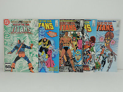 Tales of the TEEN TITANS, DC Comics,Lot of 5, Issues#55,56,57,58,60,1985 Bronze