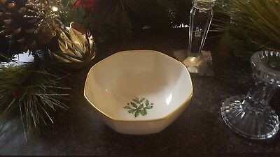 Vintage Lenox Special Holly Berry Holiday Bowl
