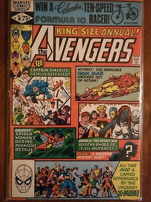 Marvel Comics The Avengers King-Sized Annual #10 First Rogue Comic Book