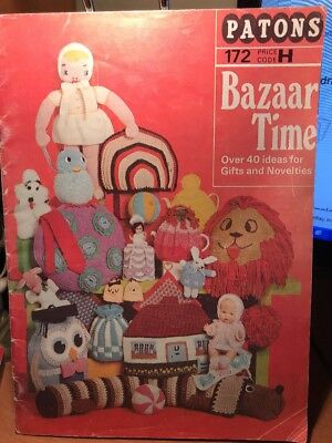 1970's PATONS knitting pattern - BAZAAR crafts/gifts - over 40 gift & novelties