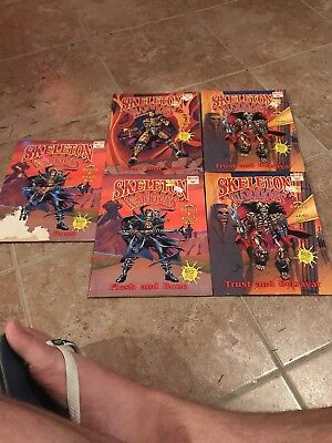 Lot of 5 SKELETON WARRIORS Coloring  Books. Never colored in. (1994)