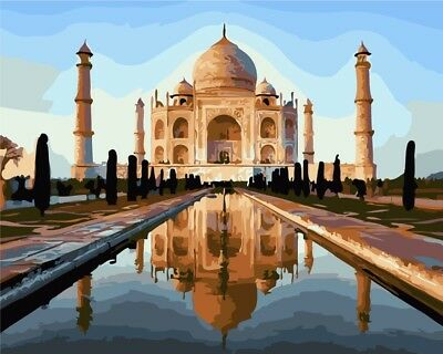 Paint by Numbers Kit 40x50cm with FRAME - The Taj Mahal