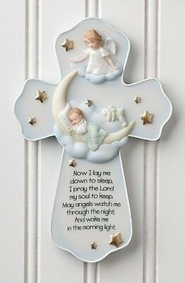 Guardian Angel Sweet Dreams Baby Cross Christian Catholic Home Decor Xmas Gift