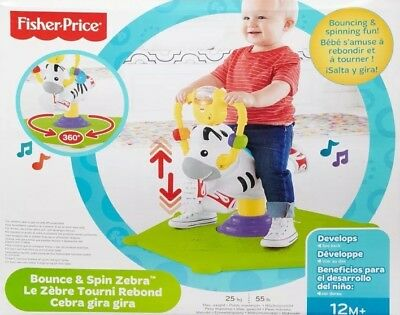 Fisher Price Interactive Bounce'n'Spin Zebra - Baby Toddler Ride Jump