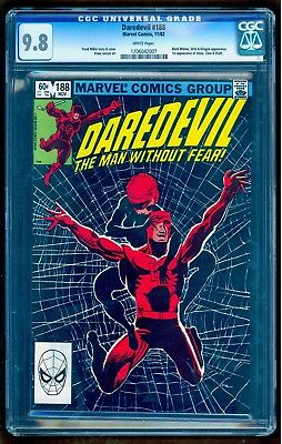 Daredevil #188 Cgc 9.8 Frank Miller! Black Widow Cover! See Our Auctions